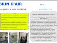 Brin d'Air N°3 (Lettre trimestrielle)