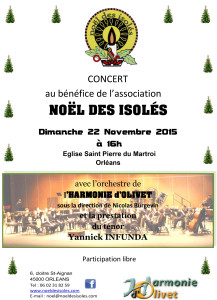 CONCERT DE L'ASSOCIATION « NOEL DES ISOLES »