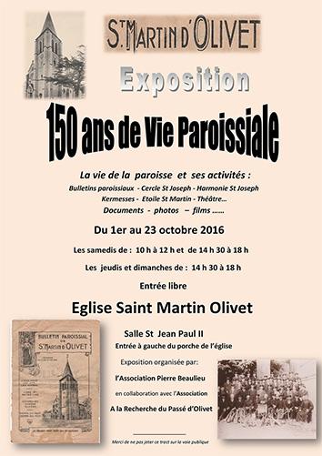 SAINT MARTIN D'OLIVET               EXPOSITION 1er OCTOBRE AU 23 OCTOBRE 2016